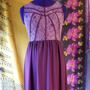Dresses & Skirts - Lacey, Long, Wine, Formal or Casual Dress